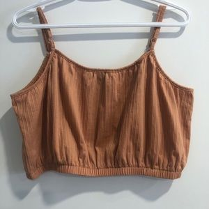 Women's Tan Crop Top from Simons Size Large